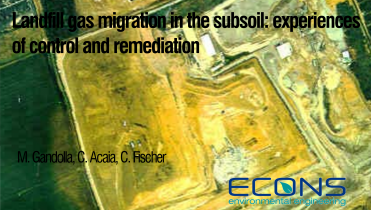 Landfill gas migration in the subsoil: experiences of control and remediation