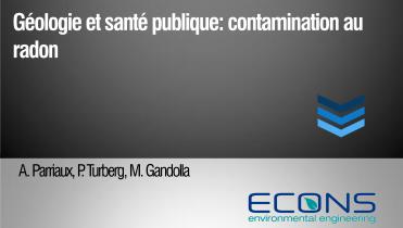 Géologie et santé publique: contamination au radon