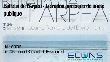 Bulletin de l'Arpea – Le radon, un enjeu de santé publique